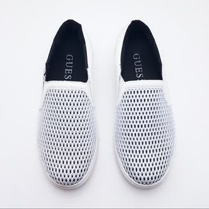 GUESS White Loafers Slip-Ons Sneakers Boat Shoes